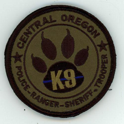 CENTRAL OREGON OR POLICE RANGER SHERIFF TROOPER K-9 SUBDUED 3 INCH DIAMETER