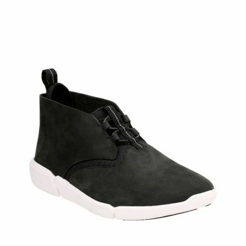 Clarks Men's Triflow Mid Black Nubuck Casual Shoes 26124357