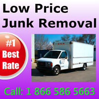 The junk to the dump, we load it and remove it: CHEAP !.