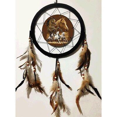"Large 10"" Hoop Horse 3D Lenticular Native American-Style Mandala Dream Catcher"