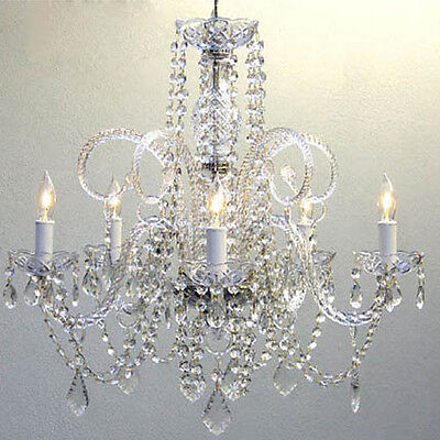 "Authentic Crystal Chandelier Chandeliers Lighting H25"" x W24"""