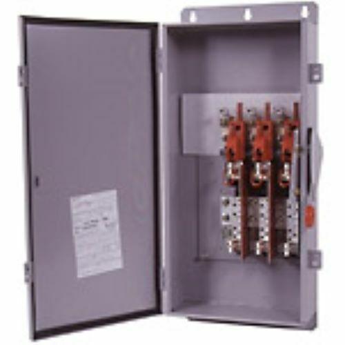 (c) Eaton Dh324fdk Safety Switch, 200a, 2p, 240v/250dc, Hd Fusible, Nema 12
