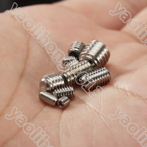 200pcs Stainless Steel Allen Head Socket Hex Set Grub Screw Assortment Cup Point