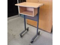 TV/Monitor Trolley Stand Standing Portable Desk Table Base Sturdy Heavy Duty