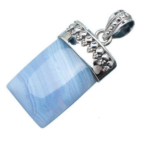 Blue Lace Agate Pendant Ebay