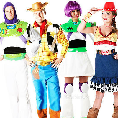 Disney Toy Story Adults Fancy Dress Buzz, Jessie, Woody Mens Ladies Costumes - Jessie Woody Costumes