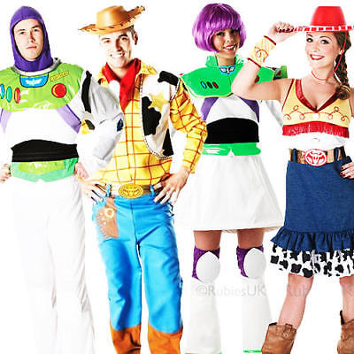 Disney Toy Story Adults Fancy Dress Buzz, Jessie, Woody Mens Ladies Costumes New