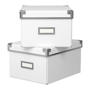 Lot of 2 white storage containers box London Ontario image 1