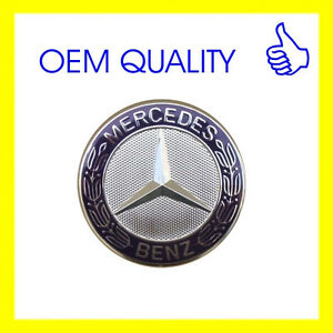 Mercedes benz flat hood emblem new original c e s class for Mercedes benz trunk emblem