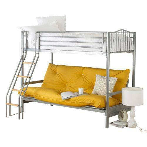 Metal Bunk Bed Frame With Futon Ebay