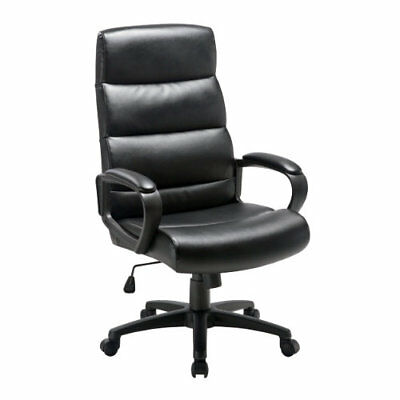 Niceday Malaga Leather- Faced Executive Chair Black