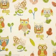 Owl Curtain Fabric