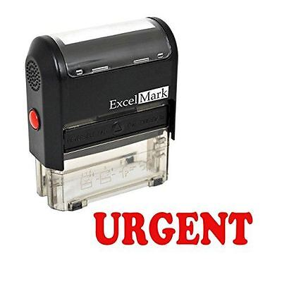 New Excelmark Urgent Self Inking Rubber Stamp A1539 Red Ink