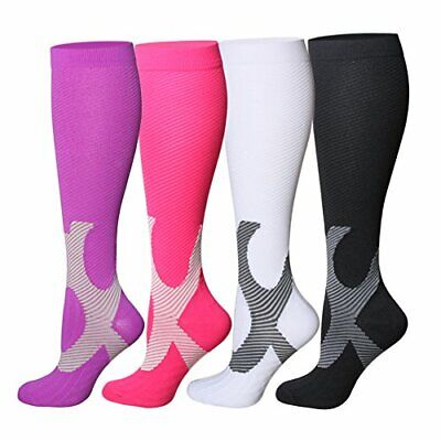 Graduated Compression Sock Over Calf Below Knee High Foot Support Stocking -