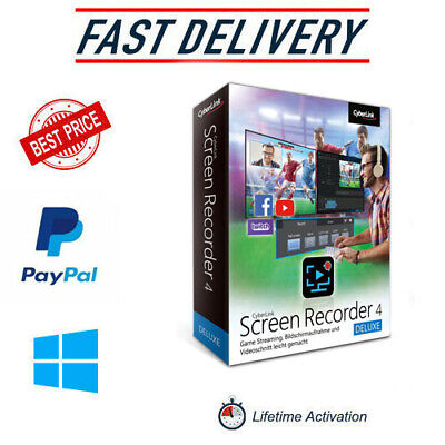 Cyberlink Screen Recorder 4 Deluxe ✔️2020✔️Full Version✔️LifeTime License Key✔️