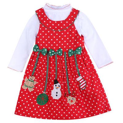 2tlg Set Cordkleid Langarmshirt Weihnachten Festkleid Winter Mädchen Gr. 110-128 Cord Kleid Set