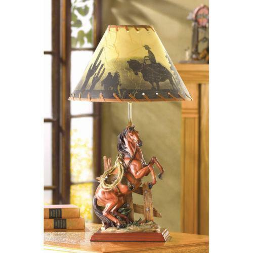 Horse lamp shade ebay cowboy lamp shade mozeypictures Gallery