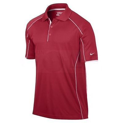NIKE Golf MensTour Performance Polo Shirt  509169-657 Red/ White Size  XL