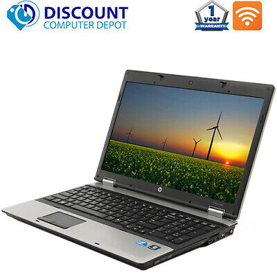 "Laptop Windows - HP 6550b 15.6"" Laptop Computer Core i3 4GB 128GB SSD DVD Wifi Windows 10 PC Cam"