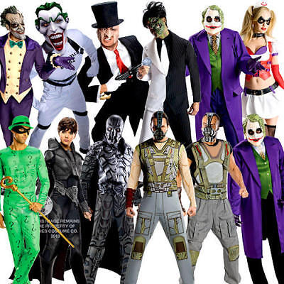 Halloween Villains Adults Fancy Dress Book Week DC Character Mens Ladies Costume - Dc Villain Halloween Costumes