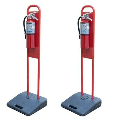 Lot Of 2 Portable Fire Extinguisher Stands With No Extinguishers
