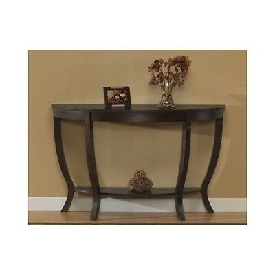 Accent Sofa Table Hard Wood Living Room Hall Furniture CONSOLE ESPRESSO Modern