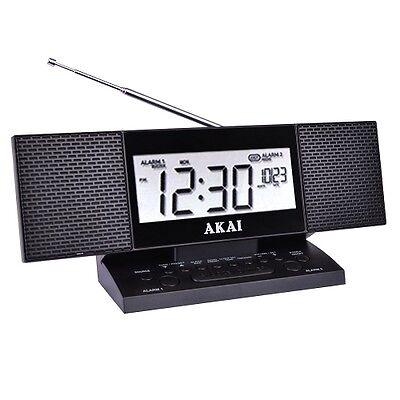 Akai Autoset FM Stereo Alarm Clock Radio with Device Fast Charging 2.4A USB Port