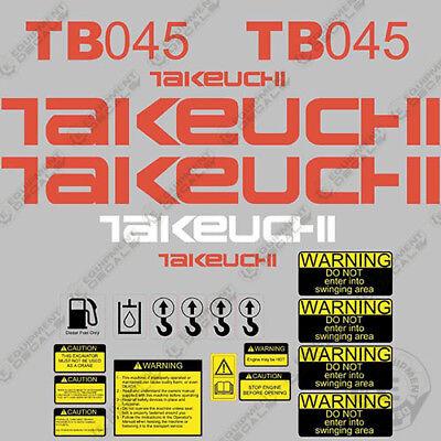 Takeuchi Tb 045 Mini Excavator Decals Equipment Decals Tb045 Tb-045 Tb45 Tb 45