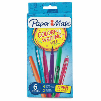 Paper Mate Inkjoy Gel And Flair Colorful Writing Pack Assorted Colors 6 Pieces