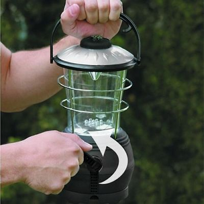 Wind Up Dynamo (12 LED WIND UP DYNAMO CAMPING LANTERN OUTDOOR HIKING with)