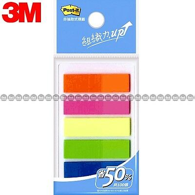 3m Post-it Flags 583-5 5 Colors Bookmark Point Sticky Note Plastic Paper Index