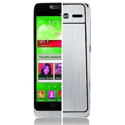Skinomi Brushed Aluminum Phone Skin+Screen Protector for Motorola RAZR i (Razr Phone Skin)