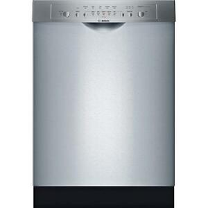 Bosch SHE3ARF5UC   24'' Ascenta 50-Decibel Built-in Dishwasher Stainless Steel Actual: 23.625-in ENERGY STAR