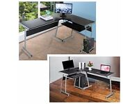 L-Shape Round Corner Computer Desk PC Table Laptop Workstation. Smoke and pet free home.