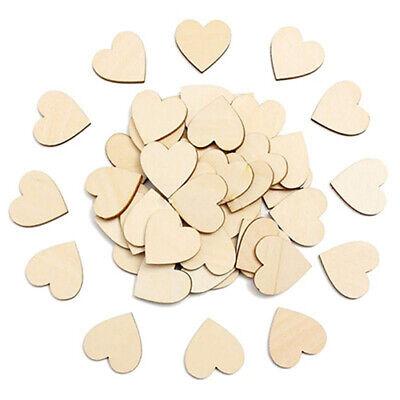 50Pcs/set Wooden Love Hearts Shapes Hanging Heart Plain for Art DIY Craft - Wooden Hearts Crafts