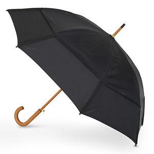 GustBuster Classic Automatic Windproof Walking Umbrella - Black