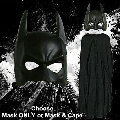 Adult DC Movie The Dark Knight Rises Batman Mask /& Cape Set Costume -