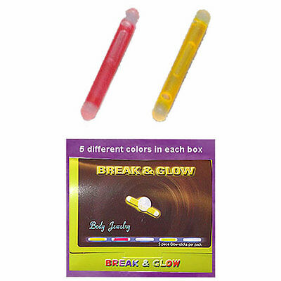 Wholesale 10pcs Pack Glow Stick Belly Ring Replacement In 5 Assorted Colors  - Glow Rings Wholesale
