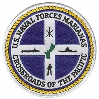 USN NAVAL FORCES MARIANAS CROSSROADS OF THE PACIFIC PATCH