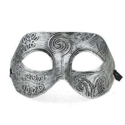 Halloween Fasching Masken  Kostüm silberfarbe Maske Halbmaske
