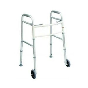 "Brand New Drive Medical Folding Walker with 5"" Wheels"
