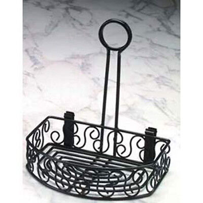 Ironworks Condiment Organizer - Wrought Iron Caddy With Scroll Design