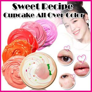 Etude-House-nuevo-Dulce-Receta-Cupcake-Todo-Color-5-Color-Labios-amp-Cheek-amp-Shadow