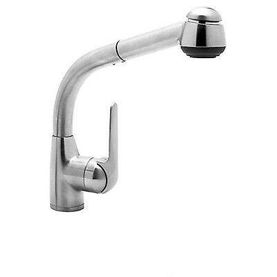 Rohl De Lux Side Lever Pull-Out Kitchen Spray Faucet Polishe