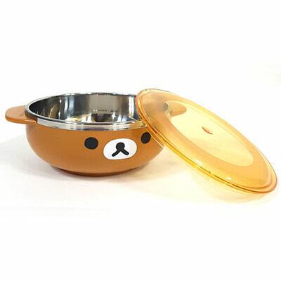 Rilakkuma Face Brown Stan Ramen Noodle Pot Cute bear Character 380ml, 12.8Oz