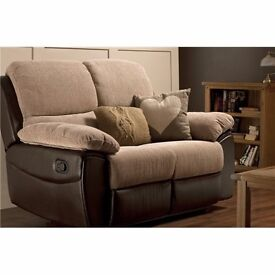 Light brown fabric recliner chair / lazy boy