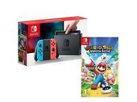 Nintendo Switch Console Neon & Mario + Rabbids Kingdom Battle BRAND NEW & SEALED