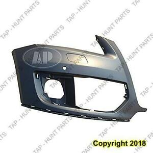 Bumper Front Driver Side With Sensor Hole Primed-Black Without S-Line Package Audi Q5 2009-2012