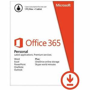Office 365 1 year personal subscription Wollongong Wollongong Area Preview