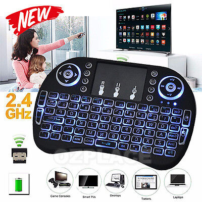 Mini Wireless 2.4Ghz Keyboard Mouse Remote Backlit for Raspberry Pi PC | Android